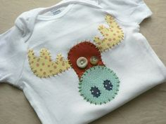 Moose Applique Onesie or Shirt Custom Size and Colors by ohmelisa, $22.00