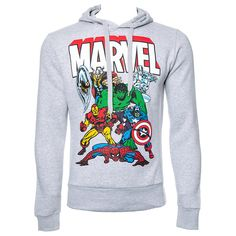 Marvel Comics Group Hoodie (Grey)