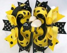 Ladybug Boutique Handmade Hair Bow Baby by JustinesBoutiqueBows
