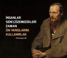 ✔İnsanlar səni həll edə bilmədikləri zaman ön mühakimələrini istifadə edərlər. #Dostoyevski