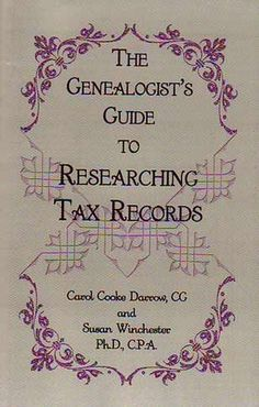 Tools: The Genealogist's Guide to Researching Tax Records available from Family History Publishing. #genealogy #resources