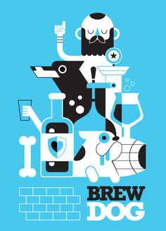 Brew Dog Artprint on Behance