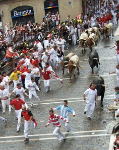 Has anyone else done the running with the bulls in Pamplona? Here is my photo essay on it: http://www.goseewrite.com/2011/07/running-with-bulls-pamplona-photos/