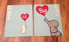 Big Lil canvases! Me and my little just made them ^_^ @Jamie Leverette