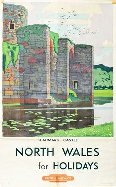 Railway poster for Beaumaris : Posters from bygone age of North Wales travel sold at auction - Daily Post JUL16