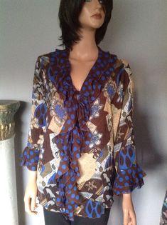 Blouse Top XL Jaipur Women Designer Fashion Valances Multi Pattern Hip Stylish   | eBay