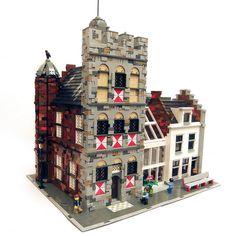 Non puoi non ammirare questa splendida versione LEGO Modular MOC dello storico municipio della città di Vianen dei Paesi Bassi!