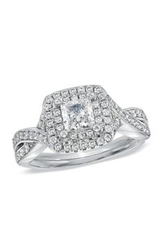 1 CT. T.W. Princess-Cut Diamond Engagement Ring in 14K White Gold (I/I1)