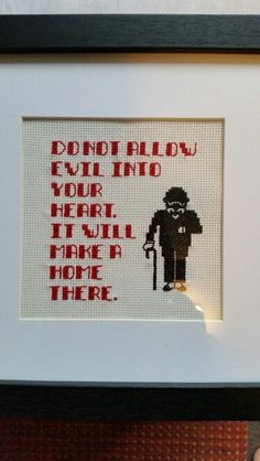 Cross stitch made from a design I found on Pintrest. Poirot and one of his quotes.