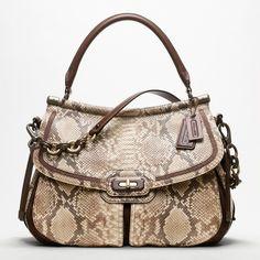 coach bags | Coach new chelsea flagship embossed python dowel flap shoulder bag 1