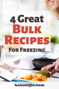 Anything that makes my life easier is a winner and these great bulk recipes for freezing are right at the top of my list for saving time, effort & money!   #BulkRecipes #MealPlanning #FreezerMeals #FreezingMeals #FrozenMeals #Recipes #RecipesForFreezing Healthy Dessert Recipes, Quick Recipes, Breakfast Recipes, Bulk Food, Saving Time, Frozen Meals, Meals For Two, Effort, Meal Planning