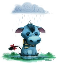 Day 574. Pooh Crossing - Eeyore by Cryptid-Creations.deviantart.com on @deviantART