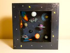 The Great Abyss space diorama/ shadow box by TinyMatter on Etsy Solar System Projects For Kids, Solar System Crafts, Space Projects, Science Projects, School Projects, Craft Projects, Projects To Try, Hand Crafts For Kids, Diy For Kids