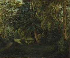 Eugène Delacroix (Fr. 1798-1863), Le jardin de George Sand à Nohant, vers 1840, huile sur toile, 45,4 x 55,2 cm, New-York, The Metropolitan Museum of Art