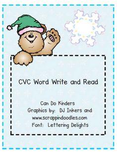 winter CVC Word activity