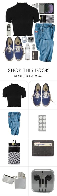 """""""JUST STOP YOUR CRYING"""" by little-wild ❤ liked on Polyvore featuring Topshop, Vans and Dickies"""