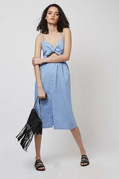 Bow Front Sun Dress - Dresses - Clothing - Topshop Europe
