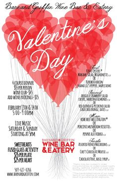 Barnard Griffin Wine Bar and Eatery: Special Valentine's Day Menu - Syndical - http://syndical.com/barnard-griffin-wine-bar-and-eatery-special-valentines-day-menu-syndical-3/