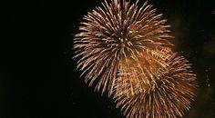 Todos se renderam ao magnífico espetáculo de fogo-de-artifício com música