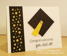 Graduation Card madde with Stampin'UP!'s Confetti Stars Border Punch