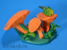 Лесная полянка – лепка грибов из пластилина | КАРАКУЛИ