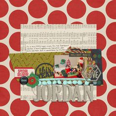 page by @Tiffany Wheeler | Holiday Hodge Podge Kit from Peppermint Creative