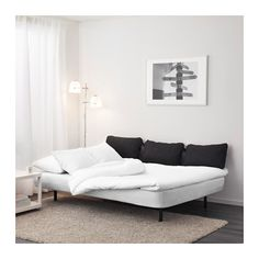 NYHAMN Sleeper sofa with triple cushion - with foam mattress, Skiftebo anthracite gray/black - IKEA 3 Seat Sofa Bed, Sofa Bed Frame, Sofa Bed Mattress, Mattress Covers, Foam Mattress, Sofa Pillows, Fabric Sofa, Sofa Beds, Sleeper Sofas