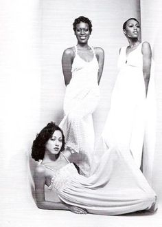 Pat Cleveland & Naomi Sims. Dunno who the third one is.