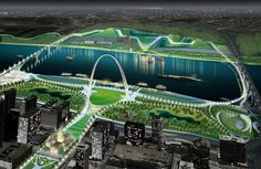 Weiss/Manfredi Architects_Framing a modern masterpiece competition | The City + The Arch + The River | 2015_ St. Louis, USA