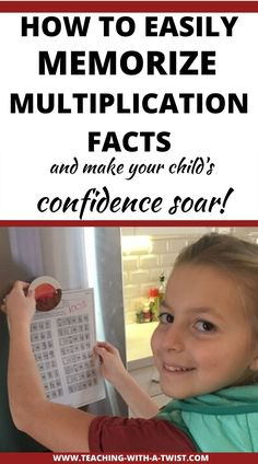 How Memorizing Multiplication Tables Made My Child's Confidence Soar! - Teaching with a Twist Math For Kids, Fun Math, Math Activities, Teaching Math, Teaching Multiplication Facts, Multiplication Tables, Homeschool Math, Homeschooling, Math Intervention