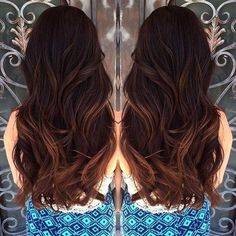 mahogany hair color with highlights 13