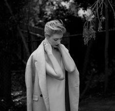 Elizabeth Debicki featured in @thelastmagazine wearing bassike crepe raw slip dress. Link to resort 2015 dresses in bio. #bassike