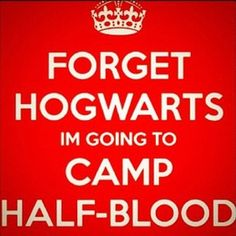 I don't know about completely forgetting Hogwarts but I would choose Camp Halfblood over it.....