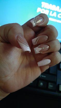Mani Pedi, Pedicure, Elegant Nails, Beautiful Nail Designs, Fancy Nails, Swag Nails, Nail Colors, Acrylic Nails, Nail Art