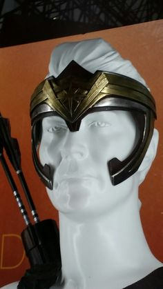 Wonder Woman movie General Antiope costume detail - head piece