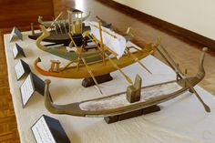 Models of Ancient Egyptian Boats. Khufu Solar Boat Museum, Giza