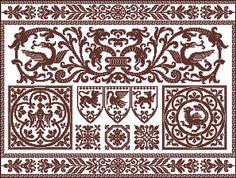 Cross-stitch Chart pattern Filet Crochet patchwork embroidery