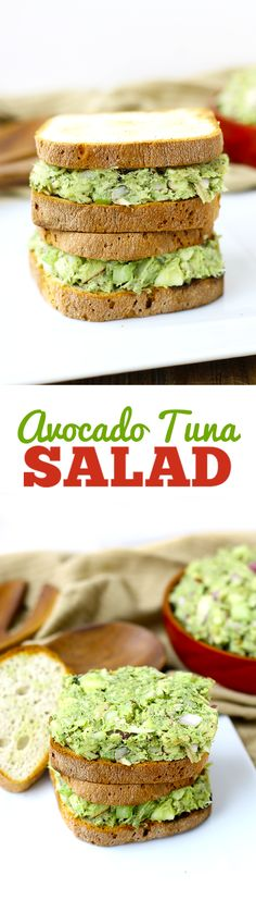 An easy lunch recipe ready in minutes, this Avocado Tuna Salad will quickly become a lunch staple. Swap the mayo for avocado in this healthy lunch recipe!