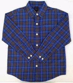 FUBU Boys Blue Plaid Boys Button Down Plaid Shirt Sz 5 NWT #FUBU #DressyEverydayHoliday