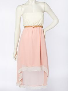 Lace High Low Dress - Dresses
