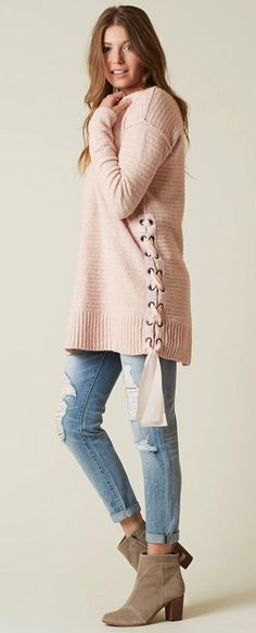 feab4b5fcc Cozy Sweaters for Winter   Free People Laceup Sweater