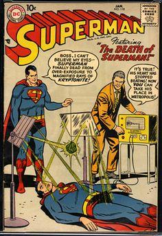 Old Superman, Superman Comic Books, Death Of Superman, Old Comic Books, Vintage Comic Books, Vintage Comics, Comic Book Covers, Superman Artwork, Superman Stuff