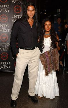 Q'orianka Kilcher and Kalani Queypo at an event for Into the West (2005)
