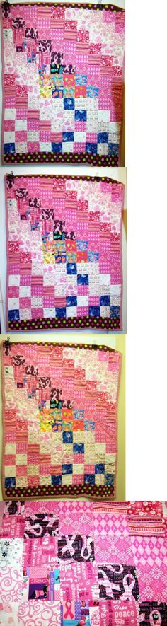 Greeting Cards and Gift Tags 146324: Handmade 60 X 45 Quilt - Breast Cancer Hope Family, Friends, Hope -> BUY IT NOW ONLY: $75 on eBay!