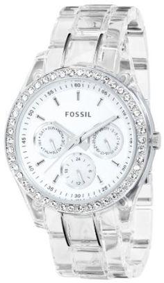 a1643513df8b Fossil Fossil Ladies Stella Multifunction Clear Glitz Watch Fossil Watches