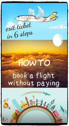 Step by step guide how to make a flight booking without paying, exit ticket in 6 steps. Book a flight for visa application, dummy plane ticket, easy way to book a fake flight.