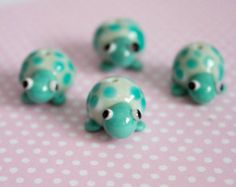 Lampwork Turtle Beads - £4.60 each https://www.etsy.com/uk/listing/288650023/turtle-beads?ref=shop_home_active_8