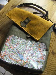 Landkarten Tasche