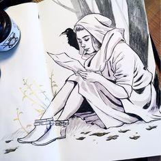 #inktober #inktober2017 #artistsoninstagram #illustration #ink #drawing #inkdrawing #sketchbook #Steph-Bouchard