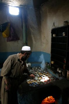 Tea shop in Kabul, Afghanistan.